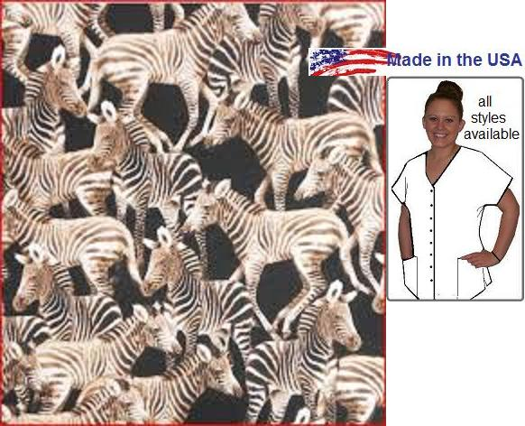 AAW - Just Zebras! African Animal Print Scrubs