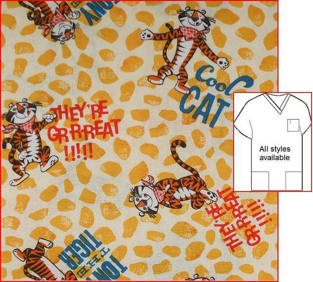 CART51752016 - Tony Tiger - Unique Cartoon Print Scrubs