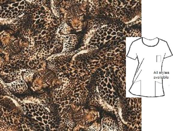 120755RK - Wild Side Leopard Animal Print Scrubs