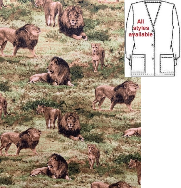 AAW71951716 - Among The Lions - African Animal Print Scrubs