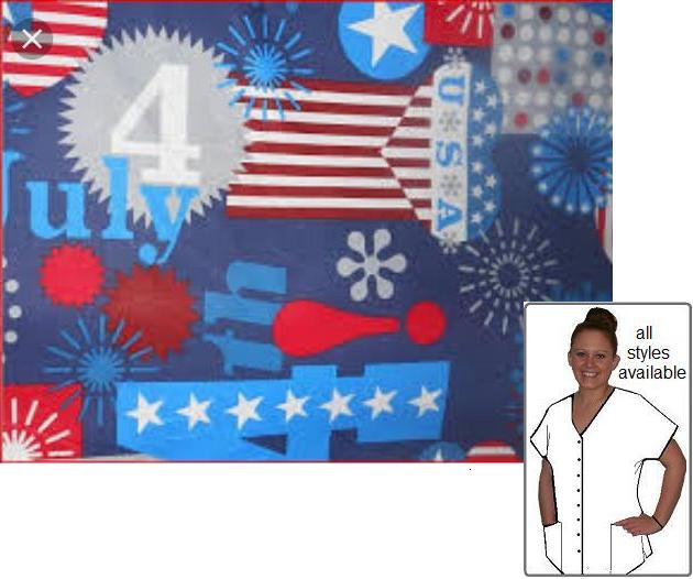 PAT5316713 - 4th Of July Patriotic Print Scrubs