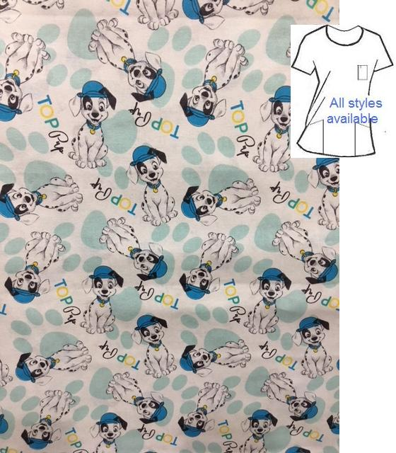 V7714 - Loyal Labs - Dog Printed Scrubs
