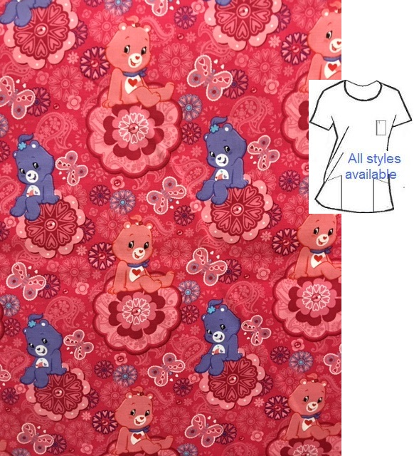 CART099 - Care Bears - Cartoon Character Scrubs
