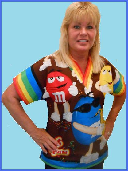 m&m celebration cartoon scrubs