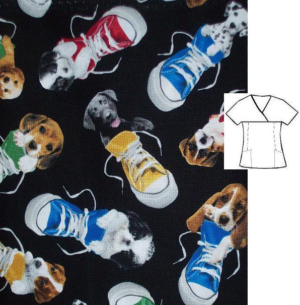 high top puppies fit4u veterinary print scrubs