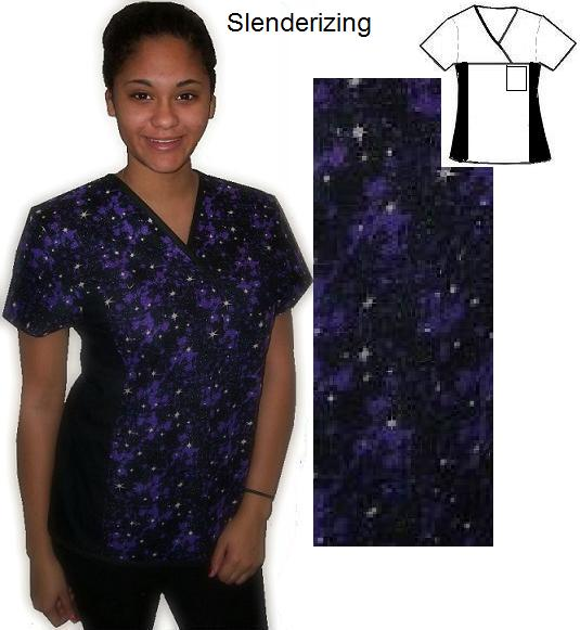 RM74022116XS - In Space Fit4U Slender print scrubs for women
