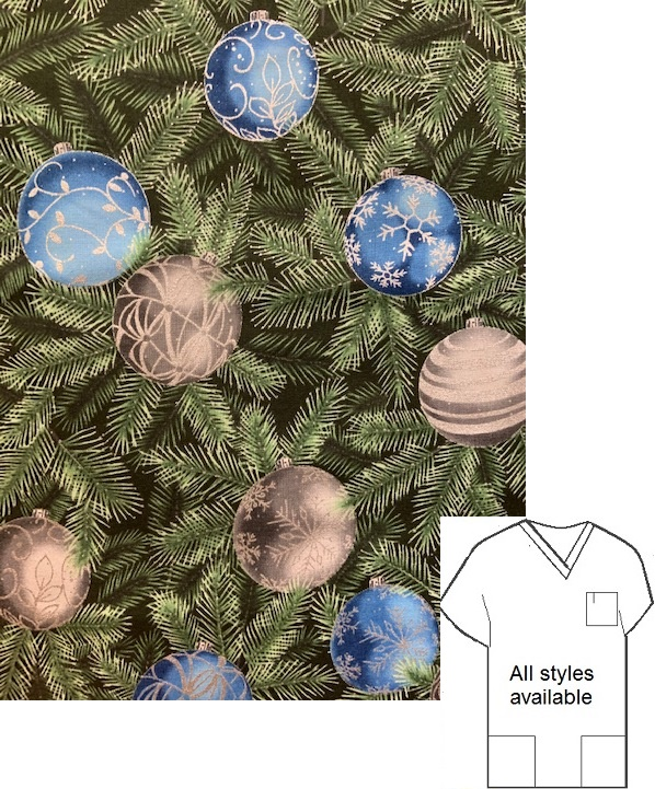 H74192A - Christmas Memories holiday print scrubs