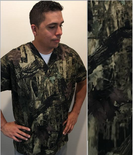 M82416811RK - Elementree Camo print scrubs for men