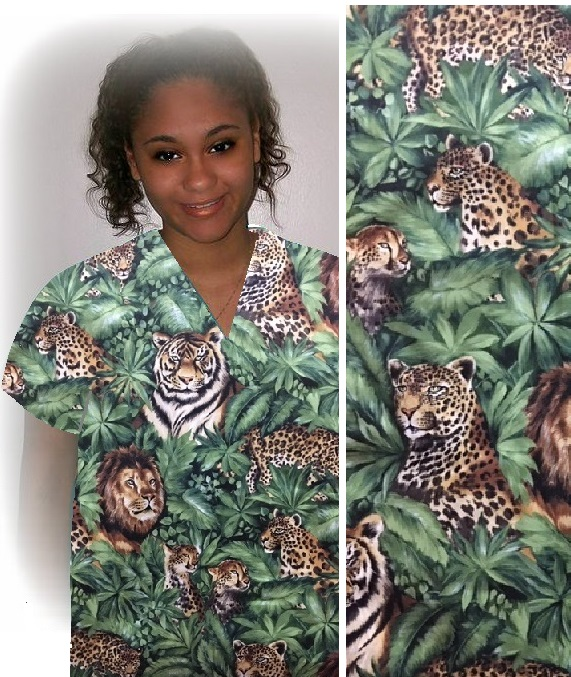 AAWVET2119 - Jungle Fever -African Animal Print Scrubs